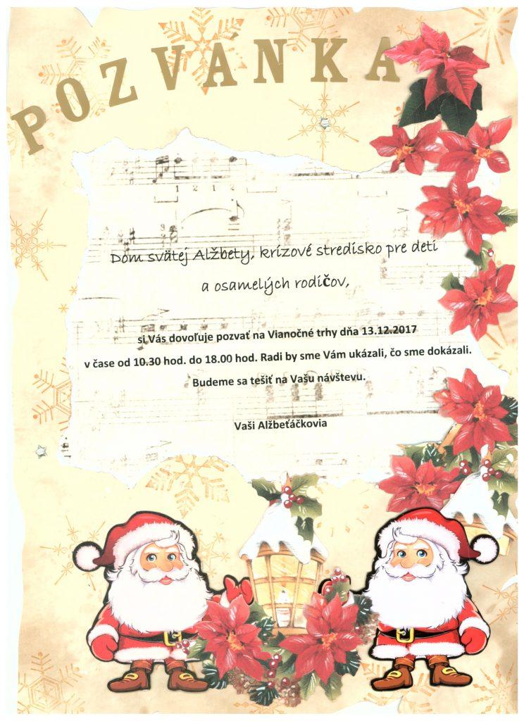 Dom Svätej Alžbety - Vianočné trhy 2017